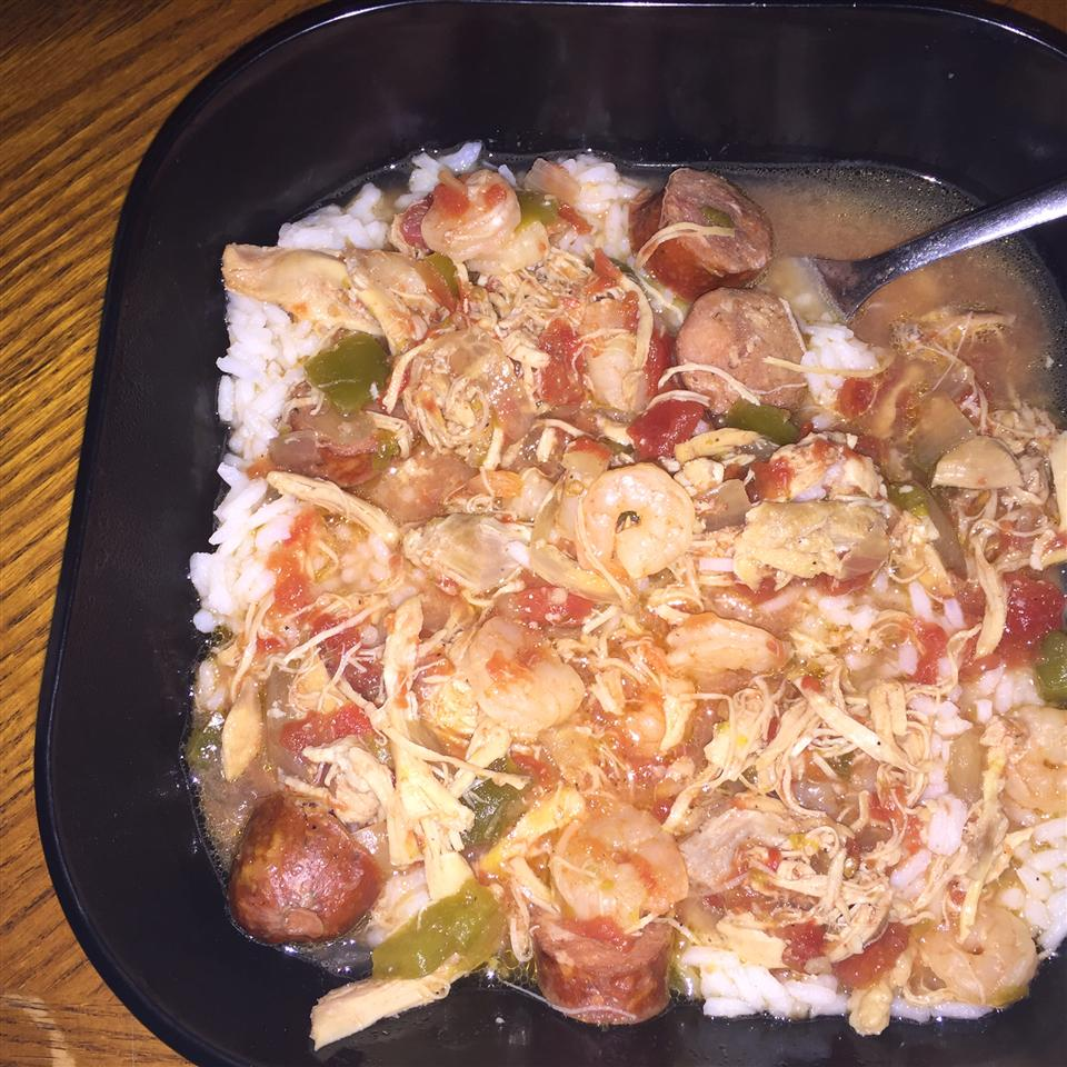 Slow Cooker Chicken Gumbo with Shrimp