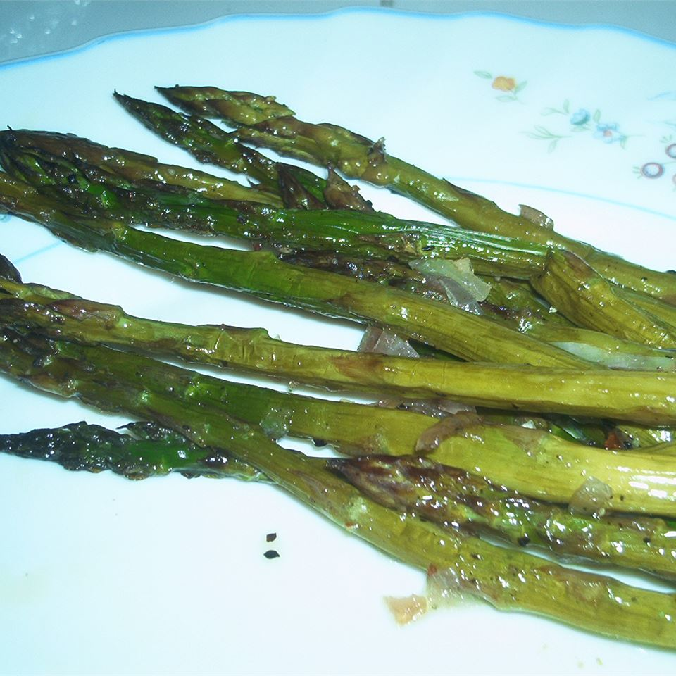 Roasted Asparagus with Shallots Michelle Ramey