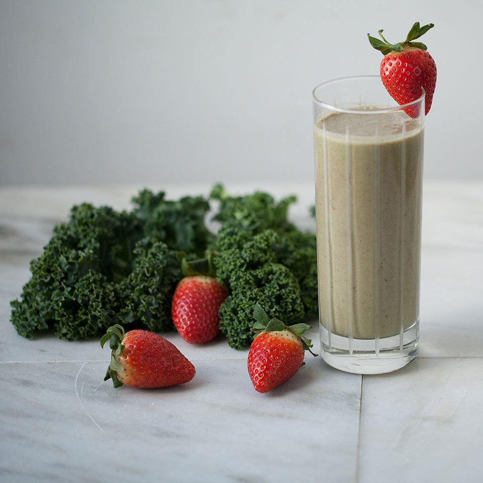 Peanut Butter-Strawberry-Kale Smoothie Breana Killeen