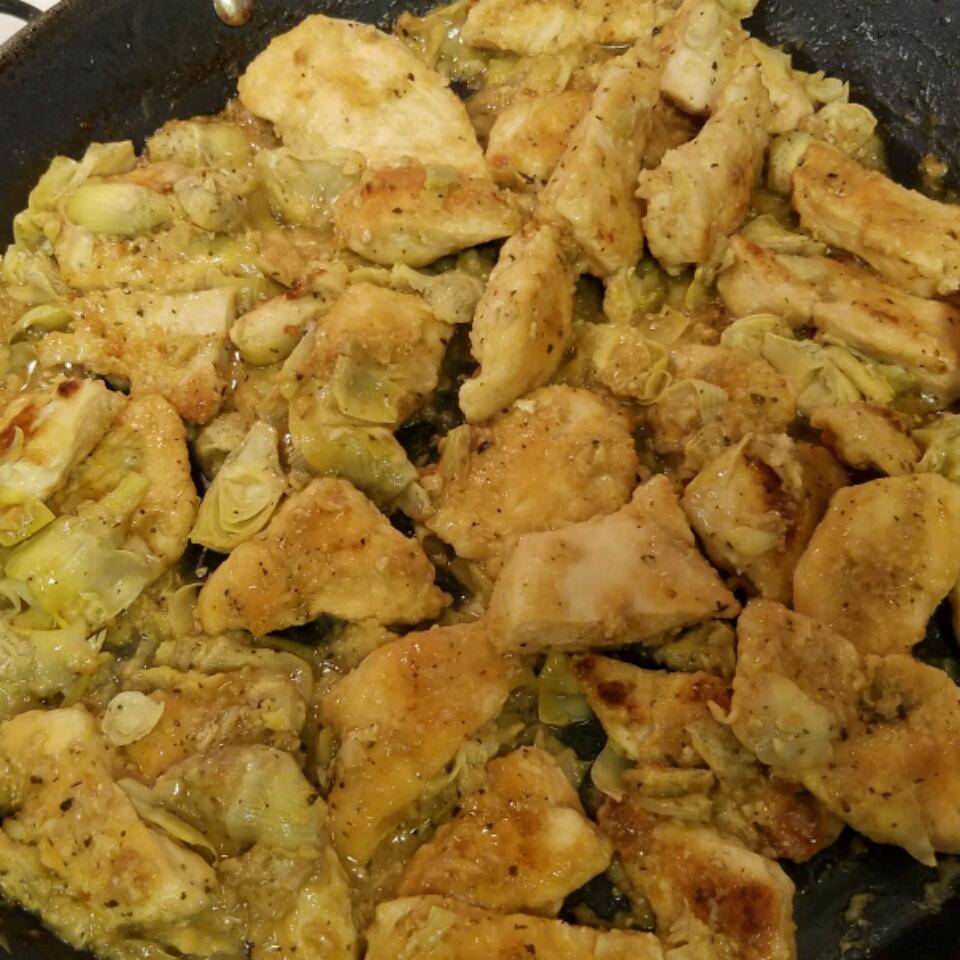 Lemony Chicken with Artichoke Hearts