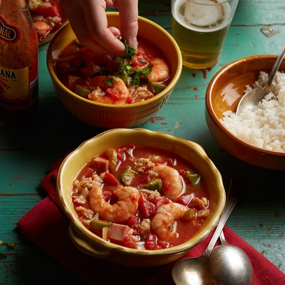 Seafood Gumbo EatingWell Test Kitchen