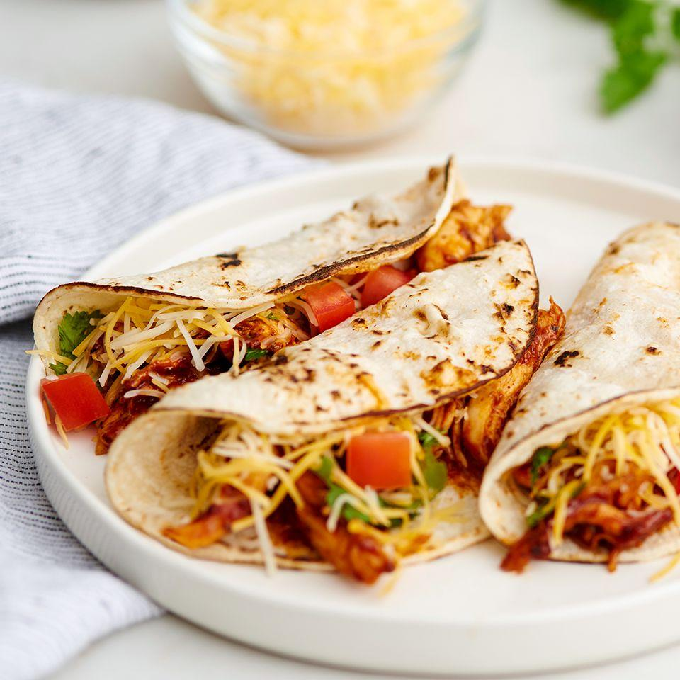 Southwest BBQ Chicken Tacos Borden® Cheese