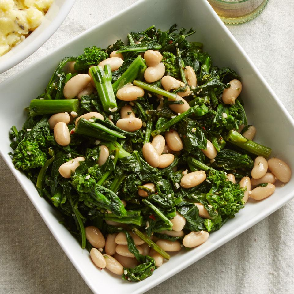Broccoli Rabe with Cannellini Beans Carolyn Casner
