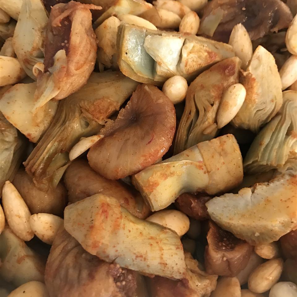Artichokes with Saffron and Almonds