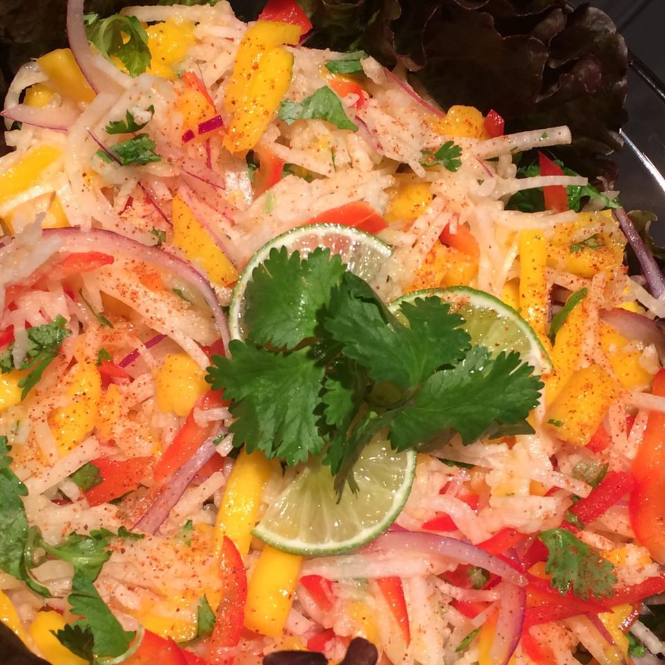 Jicama Mango Salad with Cilantro and Lime erika Gomez