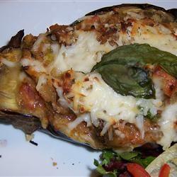 Sausage-Stuffed Eggplant ajlog78
