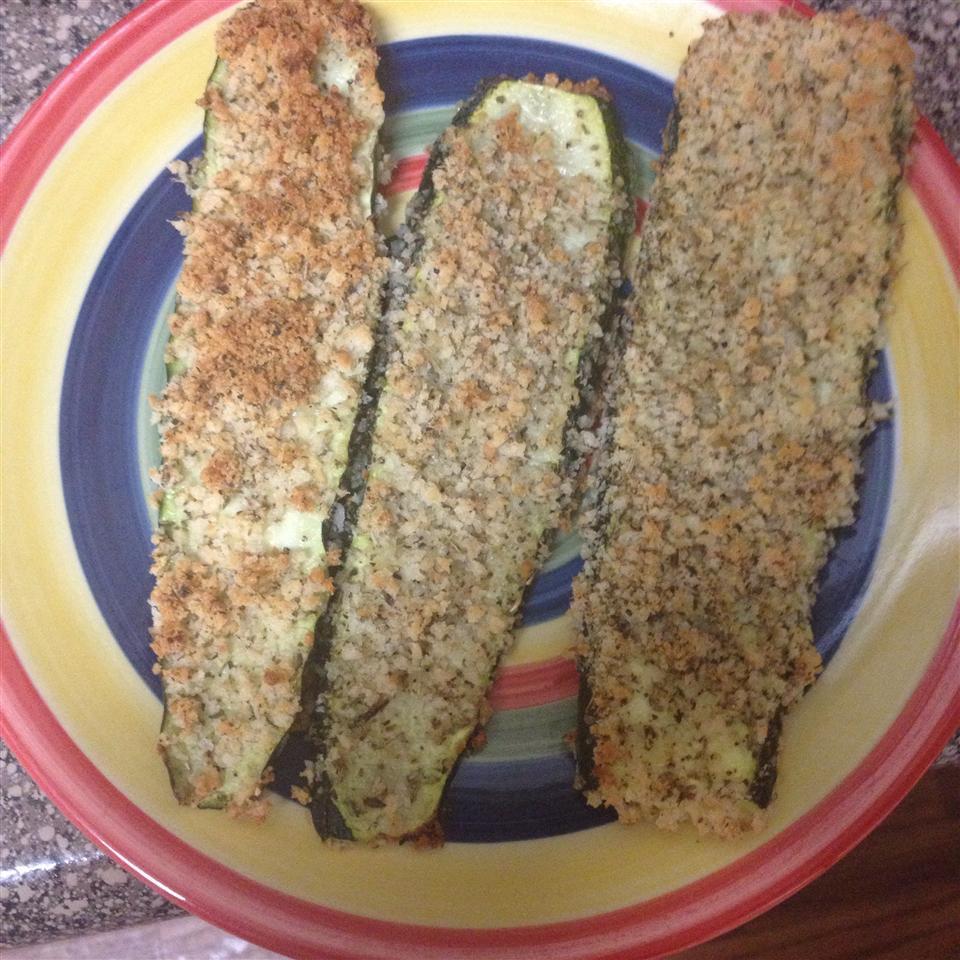 Baked Panko-Breaded Zucchini Fries
