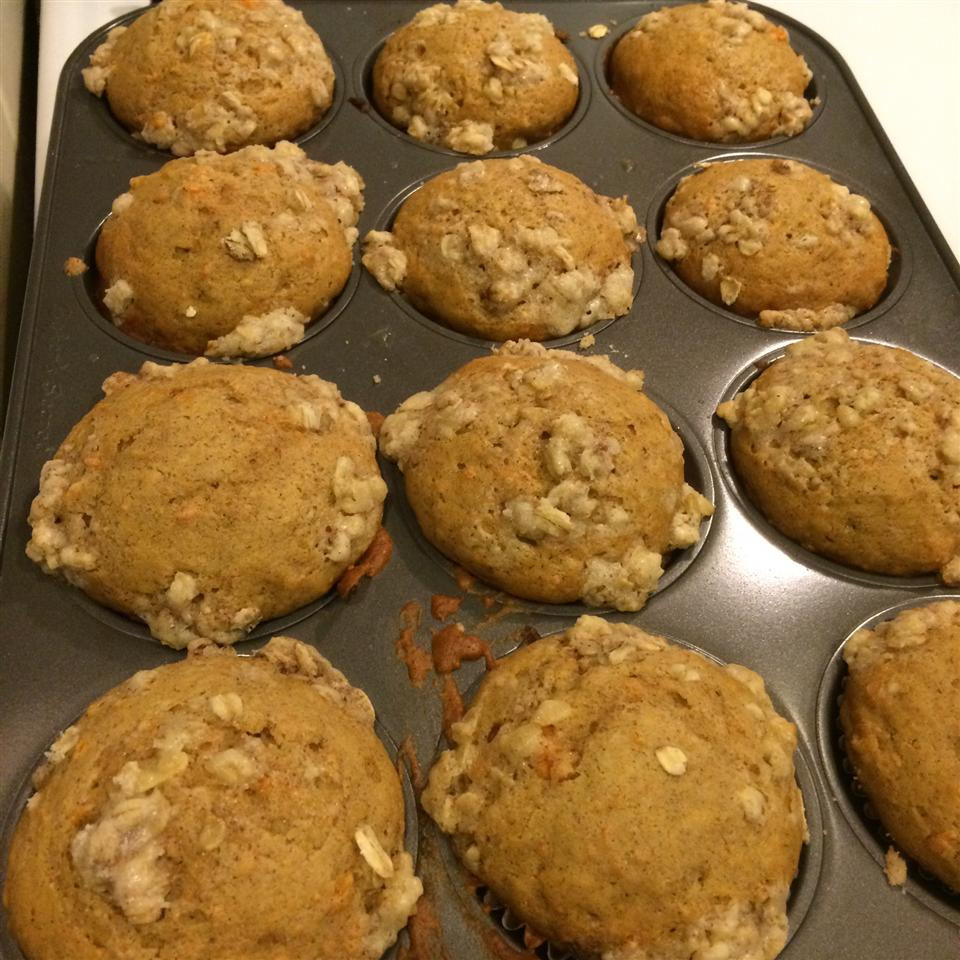 Pumpkin Muffins with Cinnamon Streusel Topping kelly