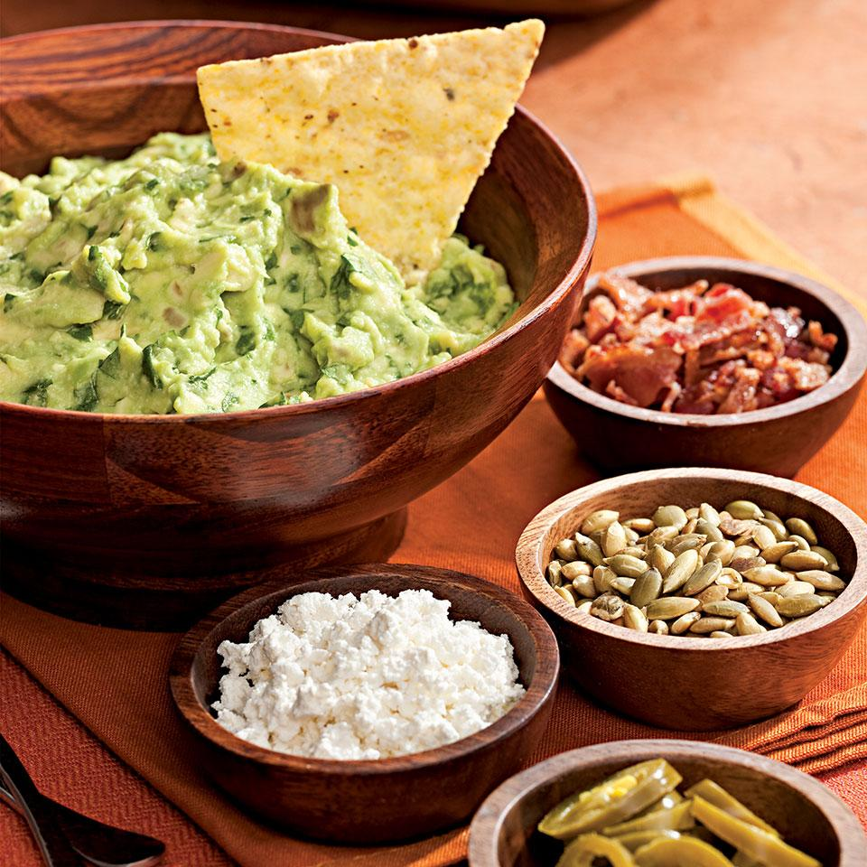 Roasted Garlic Guacamole with Help-Yourself Garnishes Rick Bayless