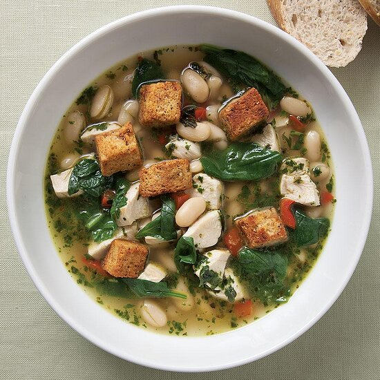 Chicken & Spinach Soup with Fresh Pesto EatingWell Test Kitchen