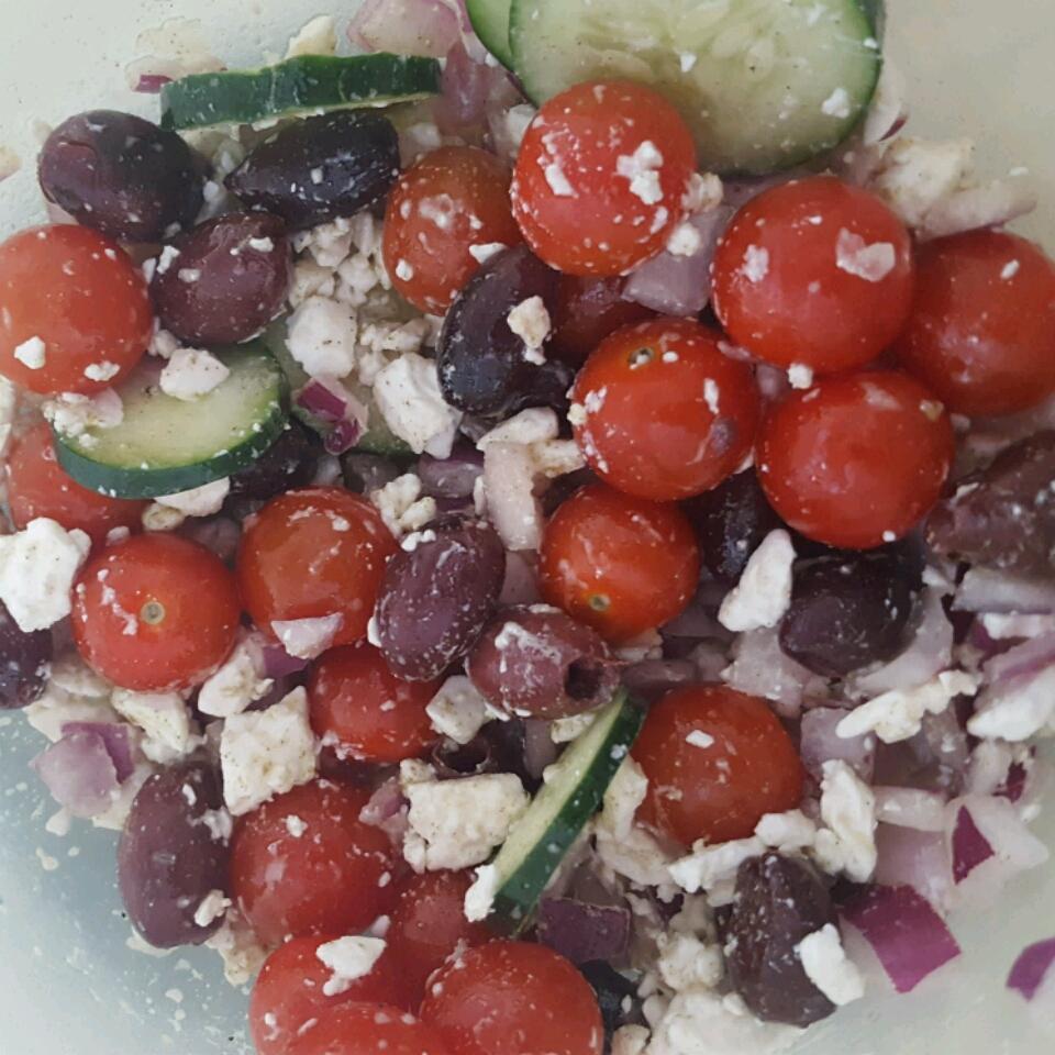 Greek Zoodle Salad Taylor Charneco
