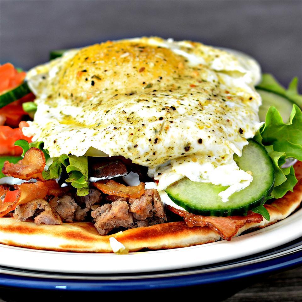Cliff's Greek Breakfast Pitas