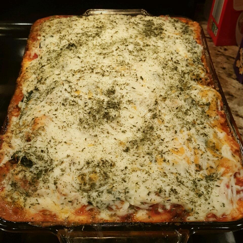 Layered Spinach Mostaccioli lcarter