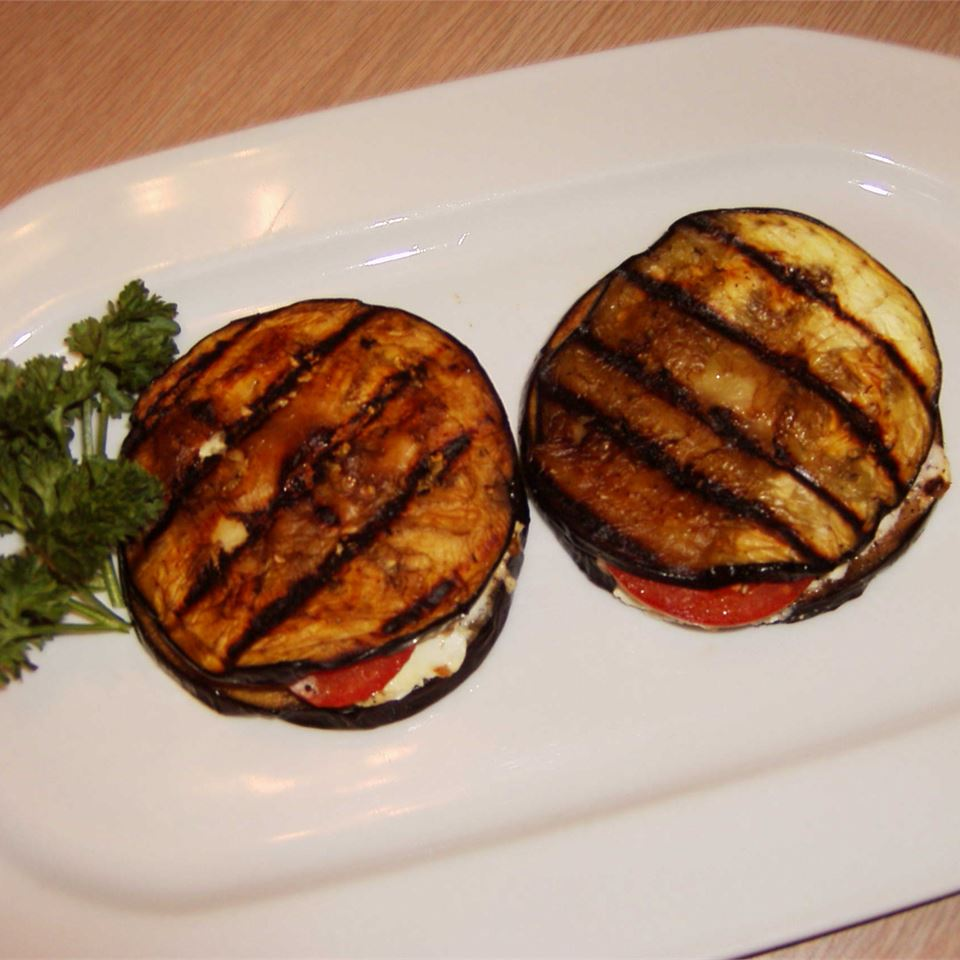 Grilled Eggplant, Tomato and Goat Cheese sebastian