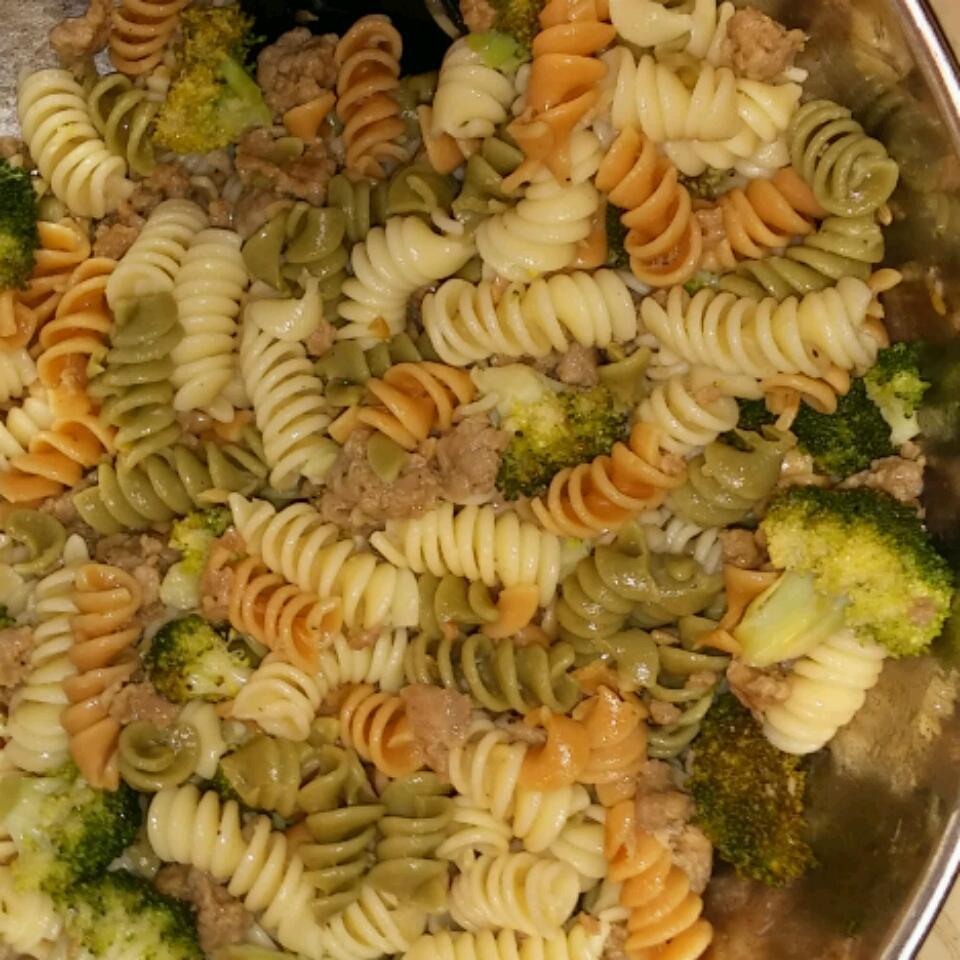 Lemon Broccolini and Sausage Pasta Cara Lingenfelter