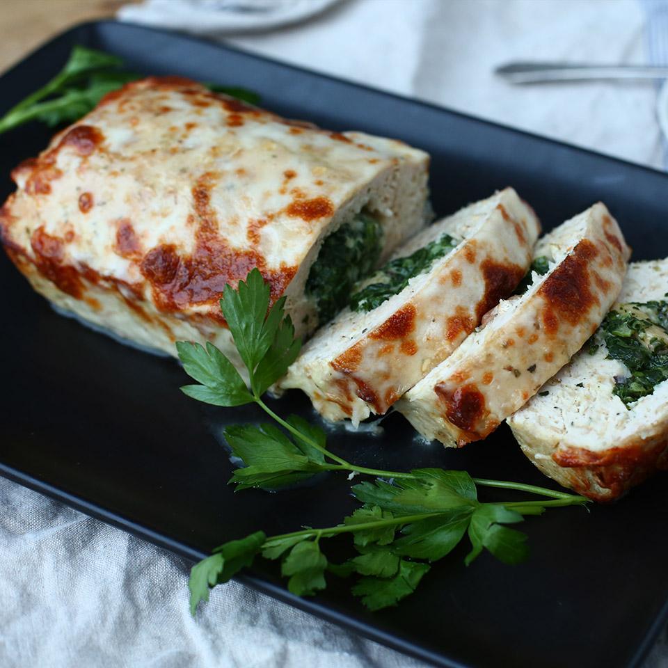 Spinach Stuffed Turkey Meatloaf Quaker®