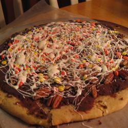 Chocolate Cookie Pizza Tabbytaz