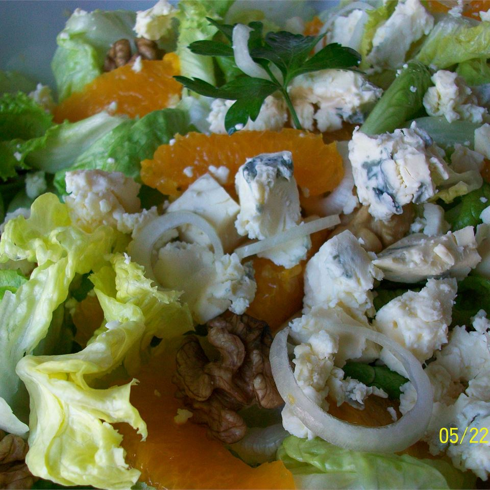 Orange, Walnut, Gorgonzola and Mixed Greens Salad with Fresh Citrus Vinaigrette Montana