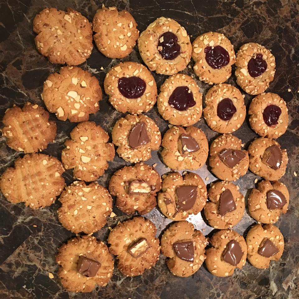 Peanut Butter and Jelly Thumbprint Cookies Ashley