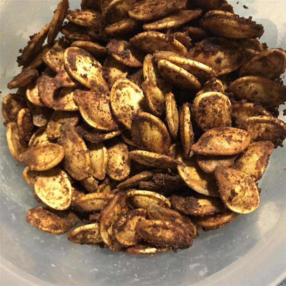 Cajun Spiced Roasted Pumpkin Seeds Genetya Clements