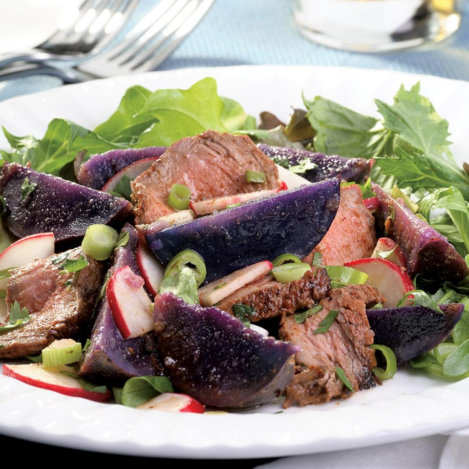Steak & Purple-Potato Salad EatingWell Test Kitchen