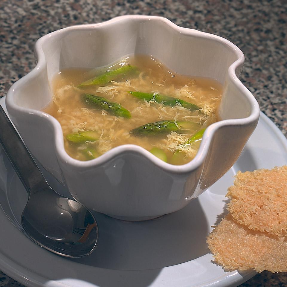 Egg Thread Soup with Asparagus Marie Simmons