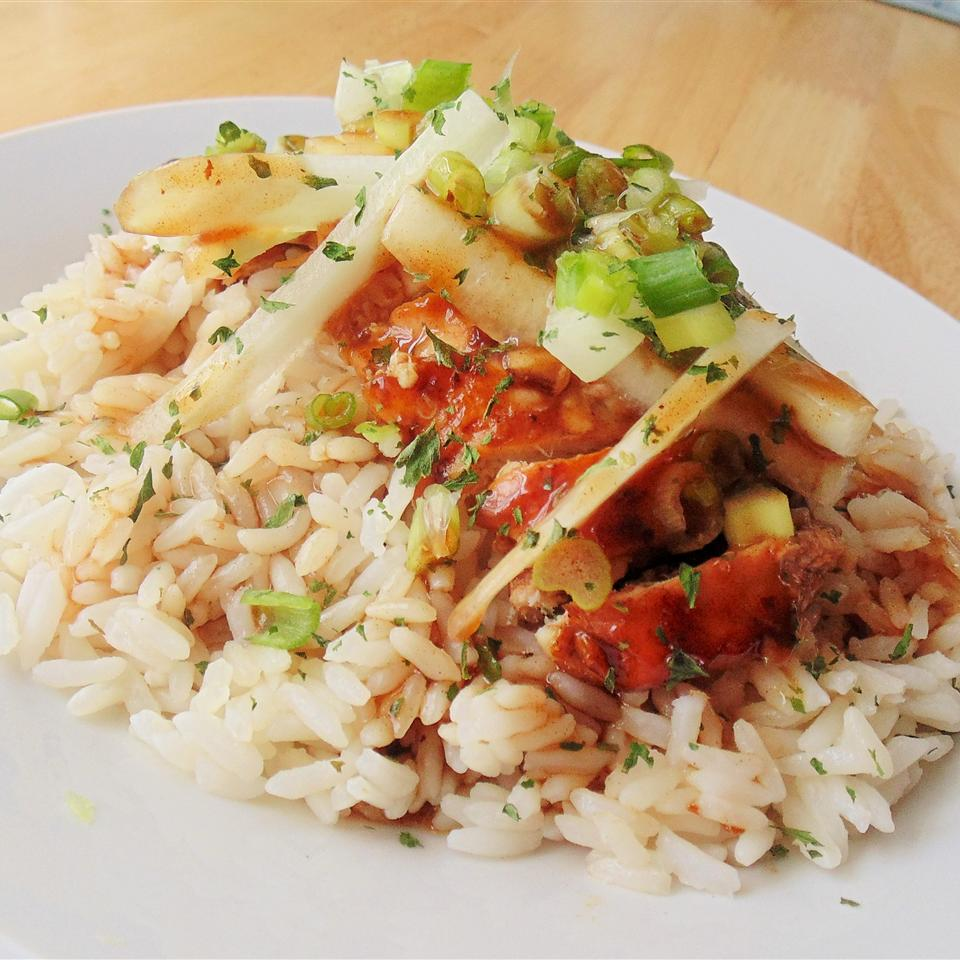 Jackie's Lemongrass Ginger Chile Chicken and Rice Christina