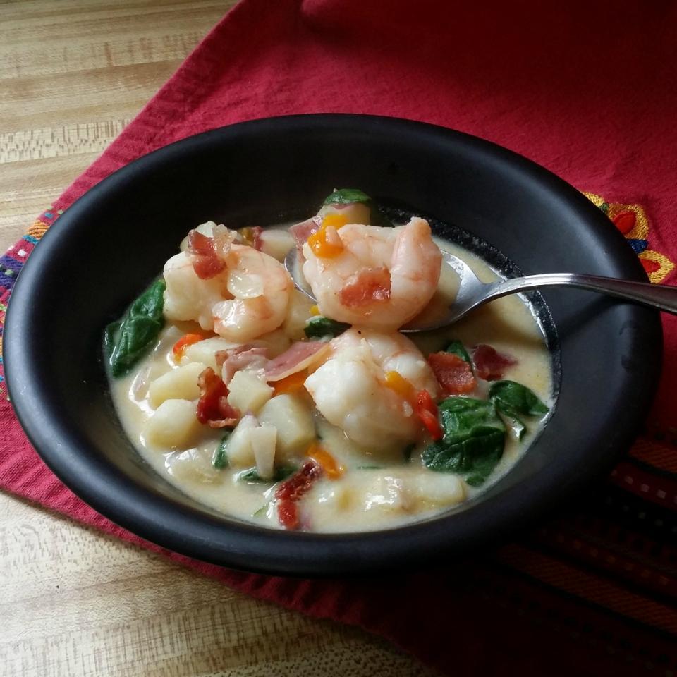 Cajun Shrimp Potato Chowder MariaTheSoaper