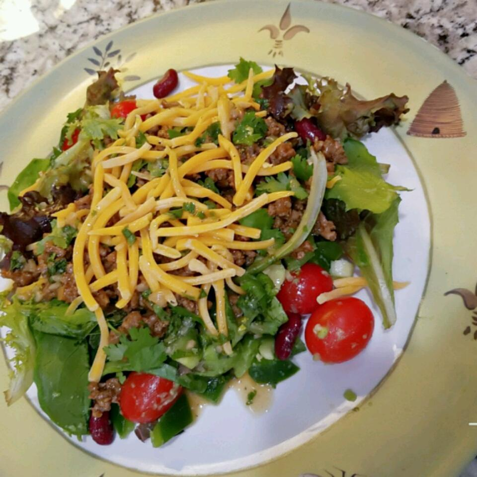 Taco Salad with Lime Vinegar Dressing Rachel Domarew-Caselle