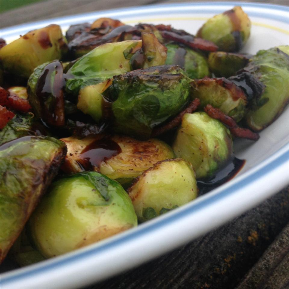 Brussels Sprouts with Bacon and Balsamic