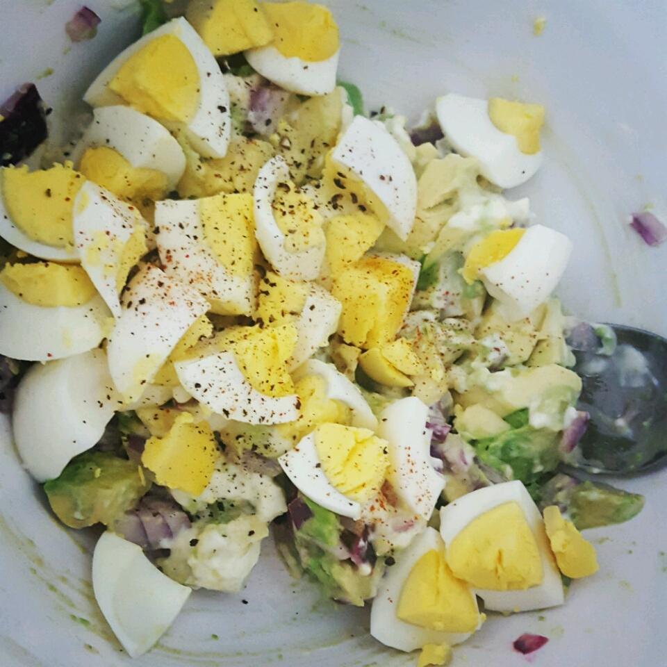 Lighter Avocado Egg Salad