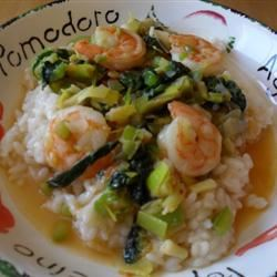 Shrimp, Leek and Spinach Risotto Phuong
