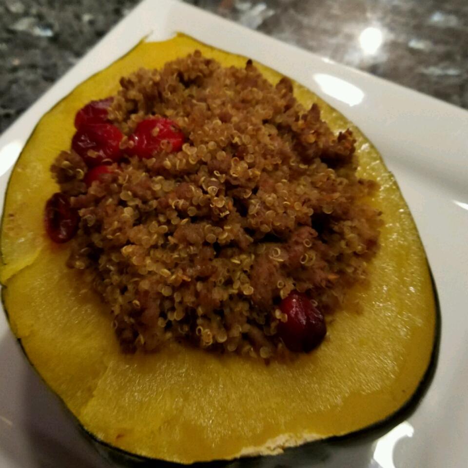 Venison and Wild Rice Stuffed Acorn Squash
