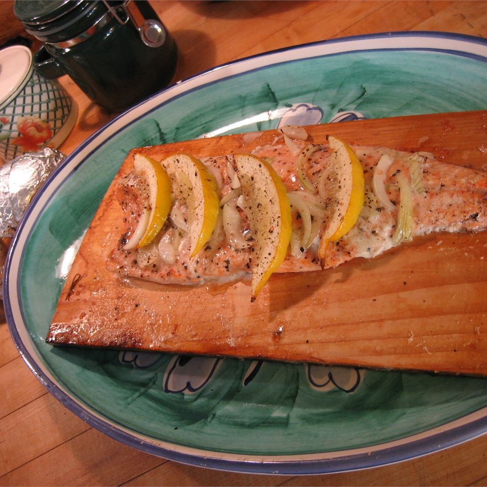 Canadian Cedar Planked Salmon SWIZZLESTICKS