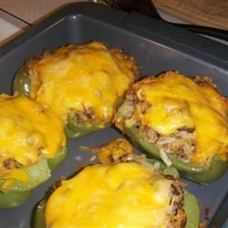 Hash Brown Hot Dish Stuffed Bell Peppers nicole