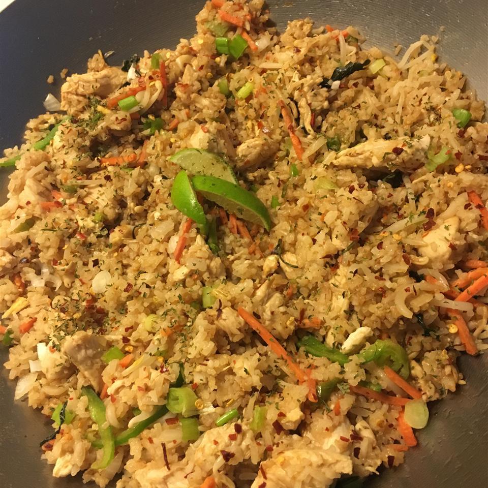 Thai Spicy Basil Chicken Fried Rice Sherice Lezama