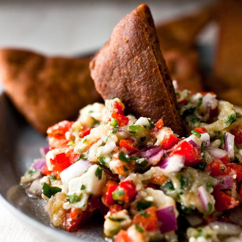 Roasted Eggplant & Feta Dip EatingWell Test Kitchen