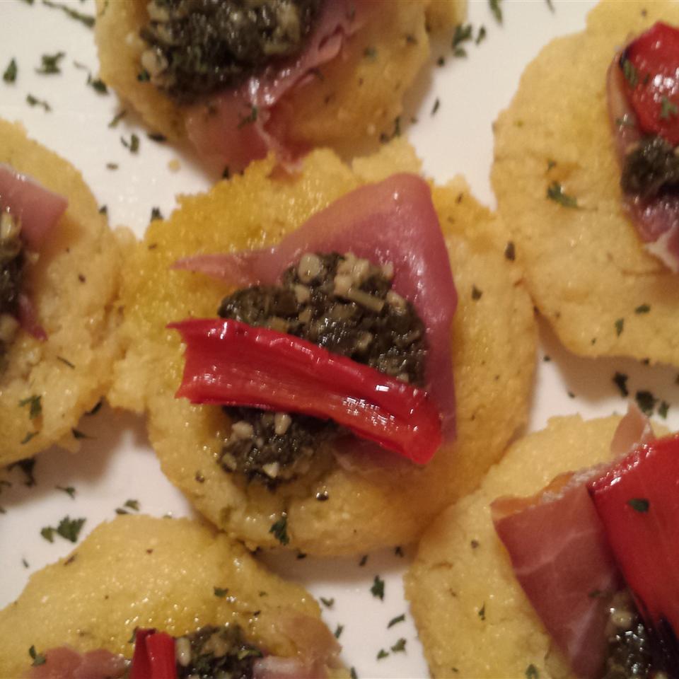 Lauren's Pesto Polenta Bites Liz Dalton 'Lizzie'