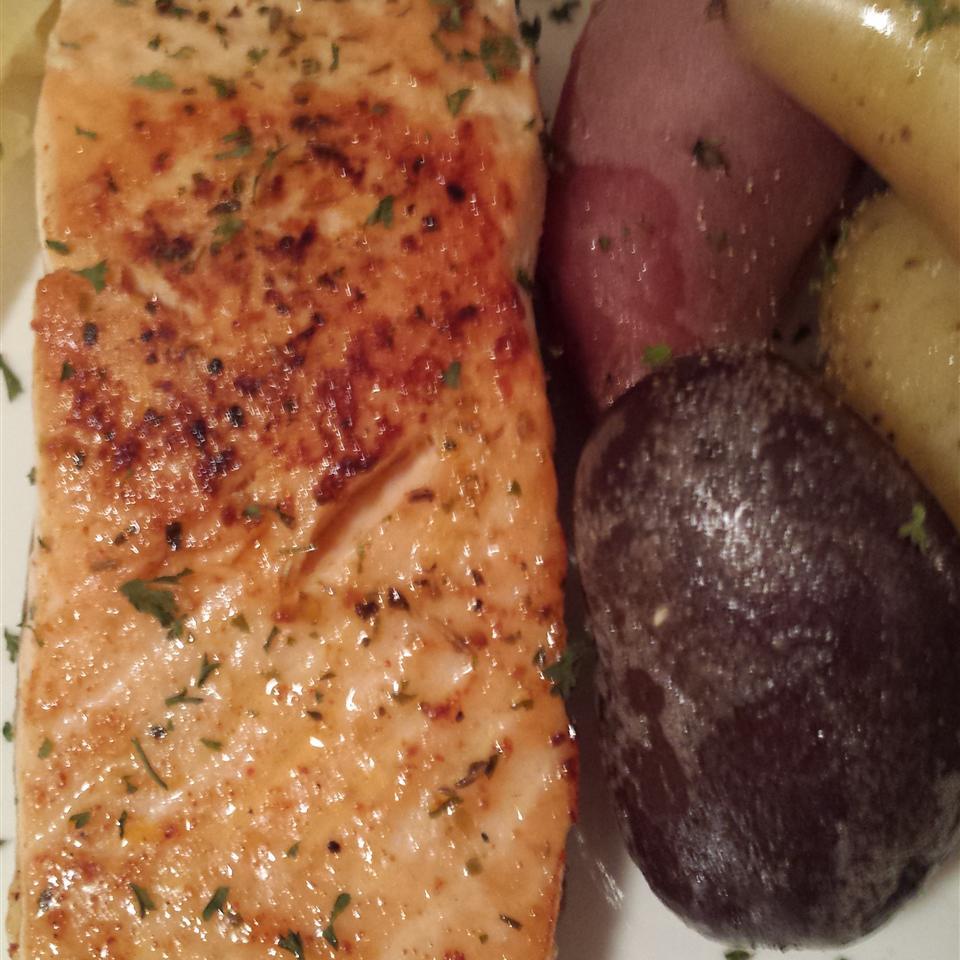 Jacob's Grilled Cajun Salmon with Roasted Fingerling Potatoes Liz Dalton 'Lizzie'