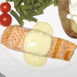 Grilled Salmon Fillets with a Lemon, Tarragon, and Garlic Sauce Fabian Enrique Marin