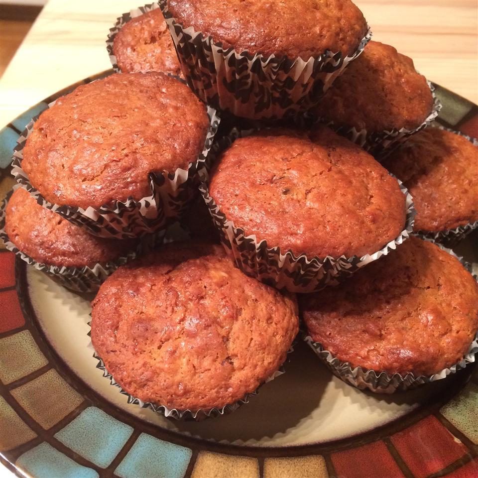 Peanut Butter Banana Muffins Zainab Ghannawi