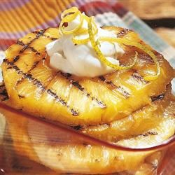 Grilled Pineapple with Mascarpone Cream Ashlie