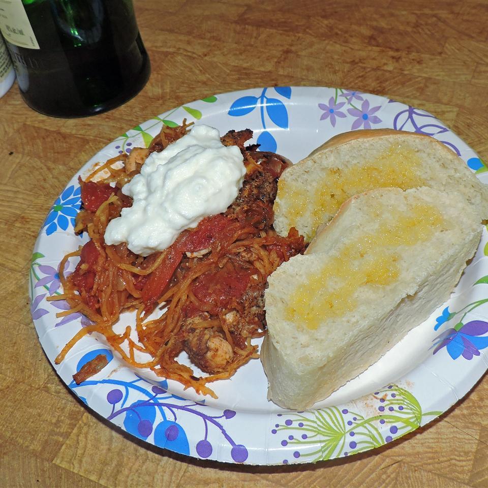 Chicken Paprika with Spaghetti Squash charm