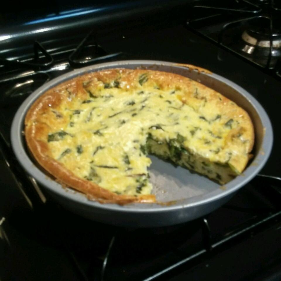 Simple Crustless Spinach and Mushroom Quiche Brittany Furman
