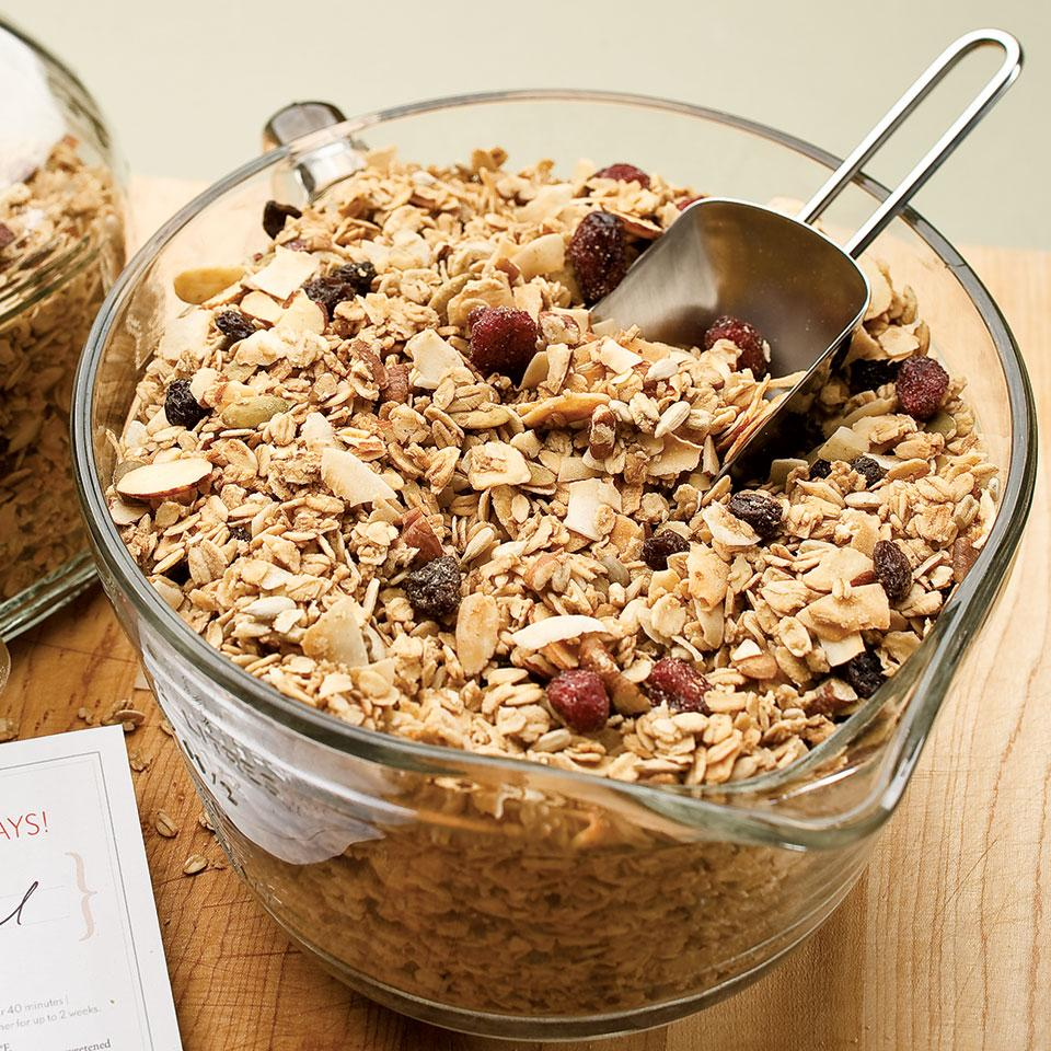 Maple-Nut Granola EatingWell Test Kitchen
