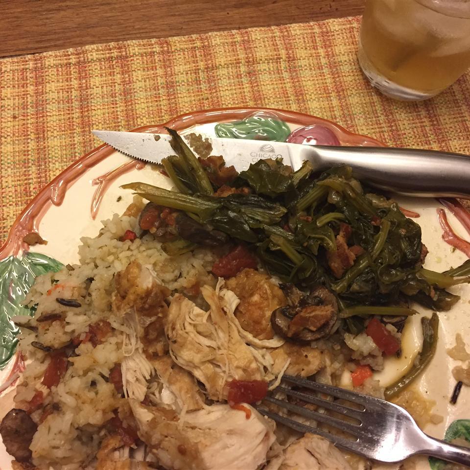 Chef Scott's Kickin' Mixed Greens doo fuss