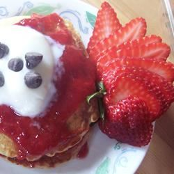 Peanut Butter and Jelly Oatmeal Pancakes Sarah-May