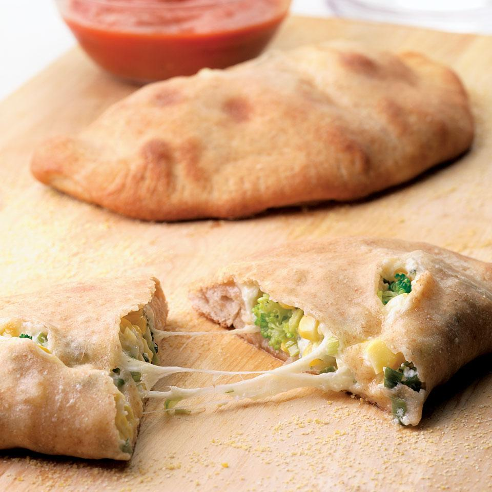 Corn & Broccoli Calzones EatingWell Test Kitchen