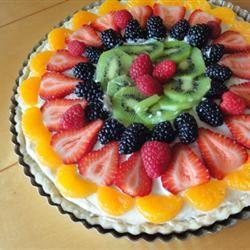 Beautiful Summer Fruit Tart