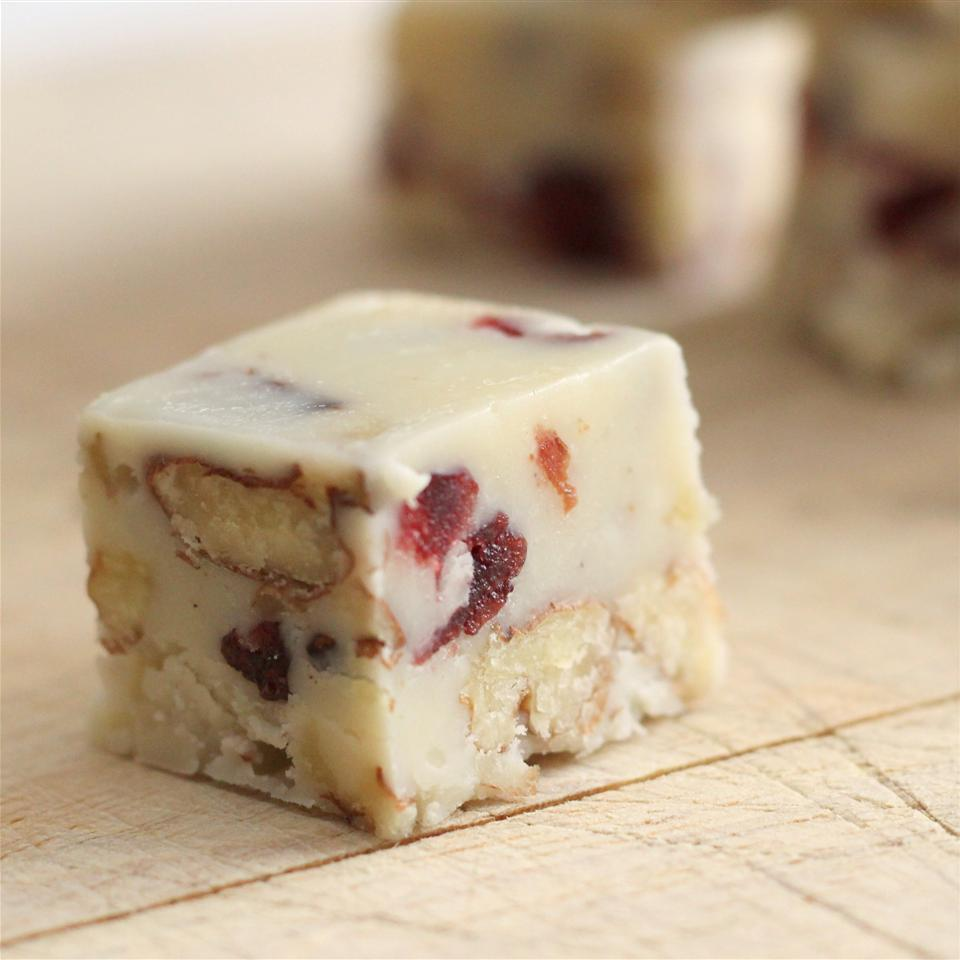 White Cranberry Walnut Nutmeg Fudge